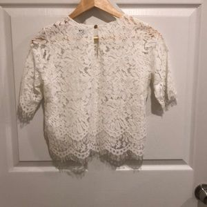 Space 46 Boutique Tops - Lace Crop Top